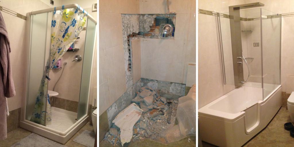 Sostituzione doccia con vasca edil arredo milano for Esempi di ristrutturazione appartamento