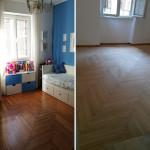 Ristrutturazione appartamento Milano Lamatura parquet 1