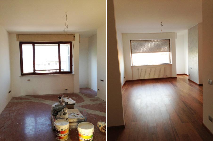 Ristrutturazione appartamento Milano Soggiorno 6