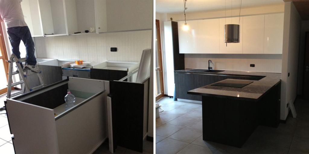 Arredamento cucina 1 edil arredo milano - Montaggio mobili cucina ...