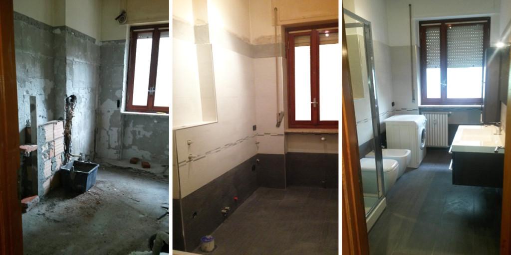 Ristrutturazione bagno 2 edil arredo milano - Ristrutturazione bagno e cucina ...
