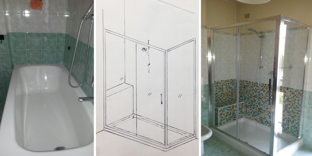 Sostituzione vasca con doccia 1 edil arredo milano - Posa piatto doccia prima o dopo piastrelle ...
