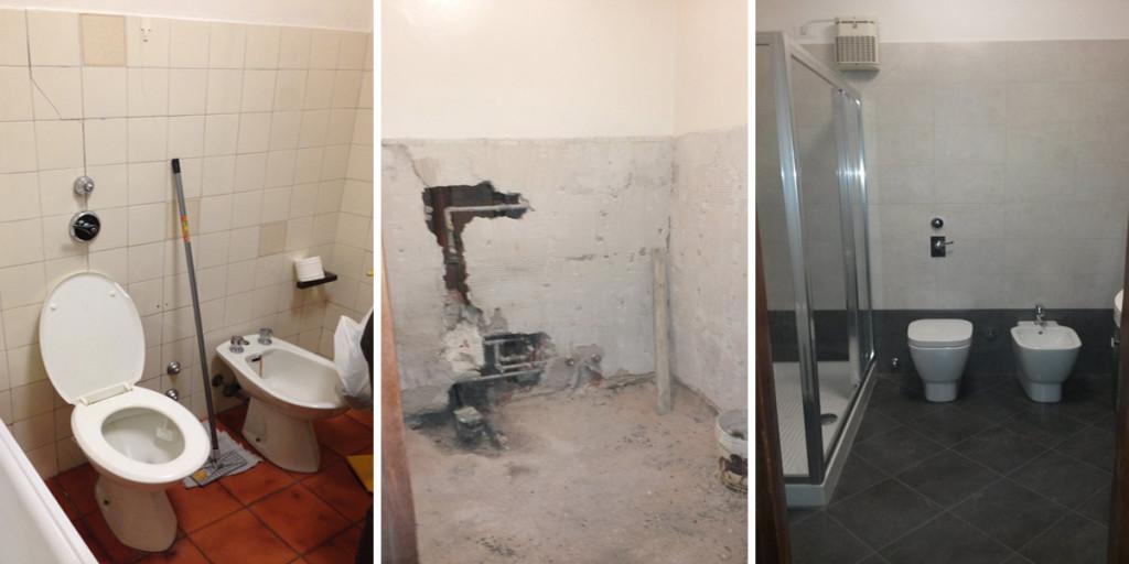 Ristrutturazione bagno 3 edil arredo milano - Bagno senza finestra ...