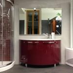 mobile bagno rosso